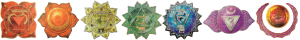 Chakra symbols horizontal